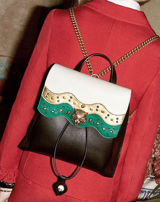 1efde7536ac Gucci Malin Medium Studded Leather Backpack
