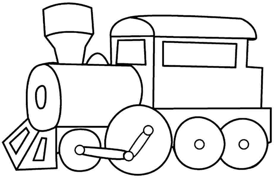 printable free colouring pages Transportation train for kids ...