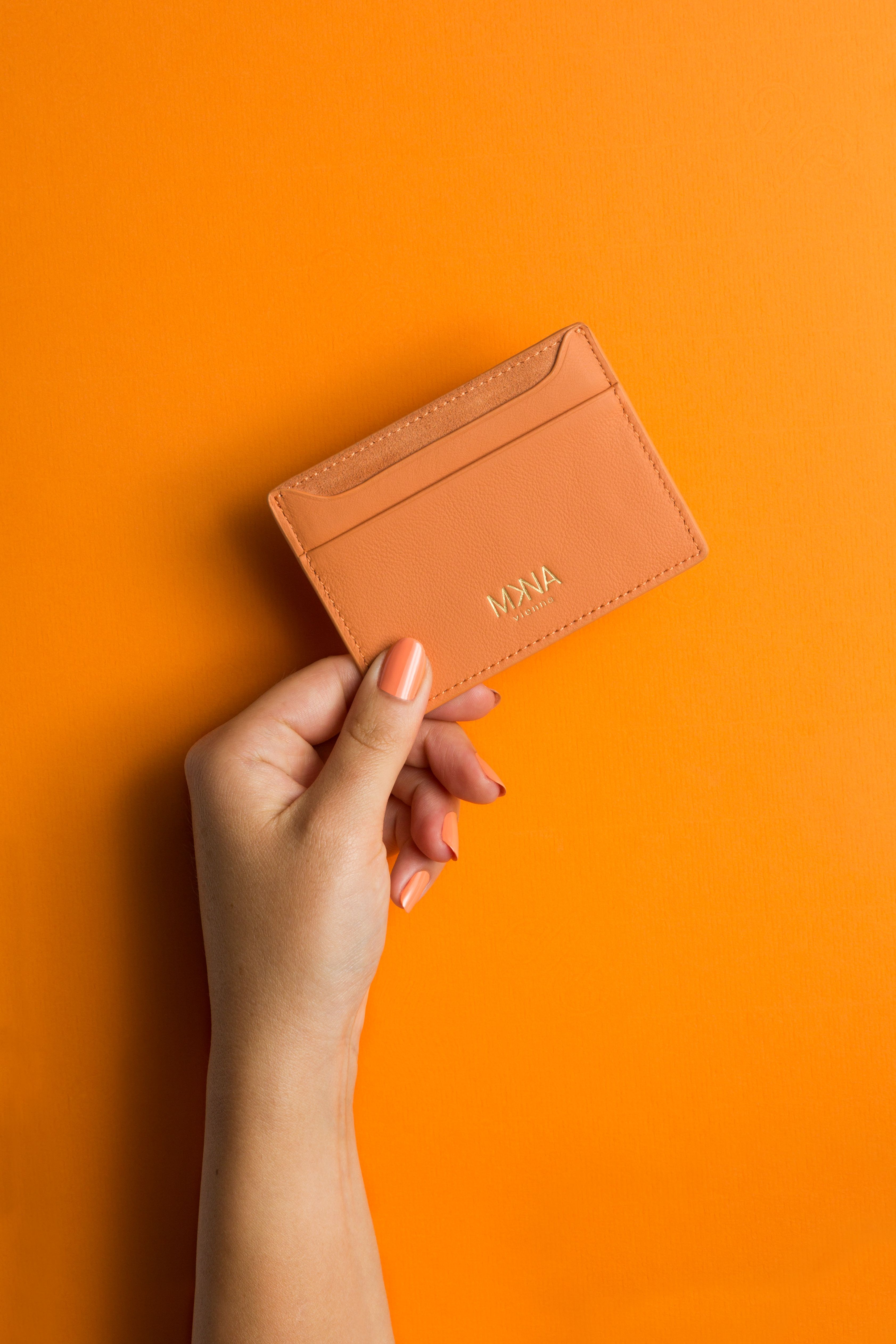 Luxury Cardholder Mkna Italienisches Leder Kartenetui