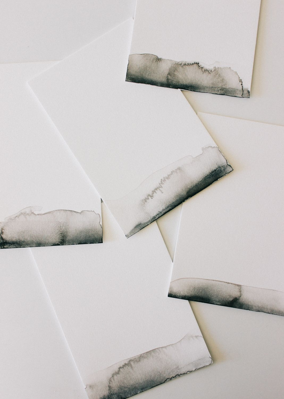 Black watercolor notecard DIY | A Fabulous Fete