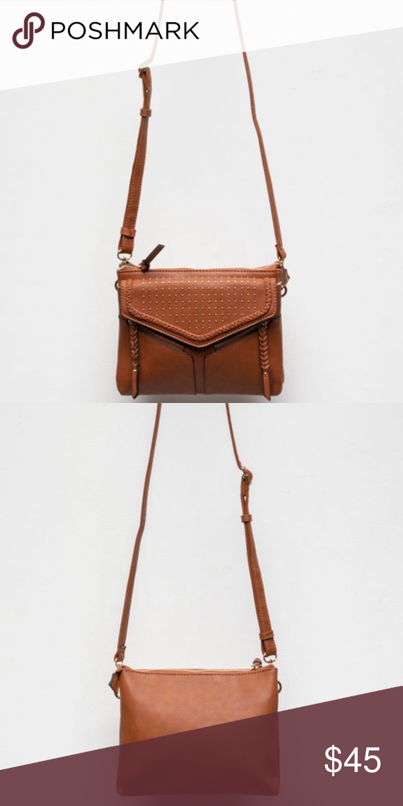 9075c1794093 Leanna Studded Bag From Free People line Violet Ray Leanna Stud   Braid crossbody  bag.