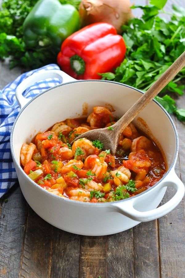 Easy Shrimp Creole #cajunandcreolerecipes