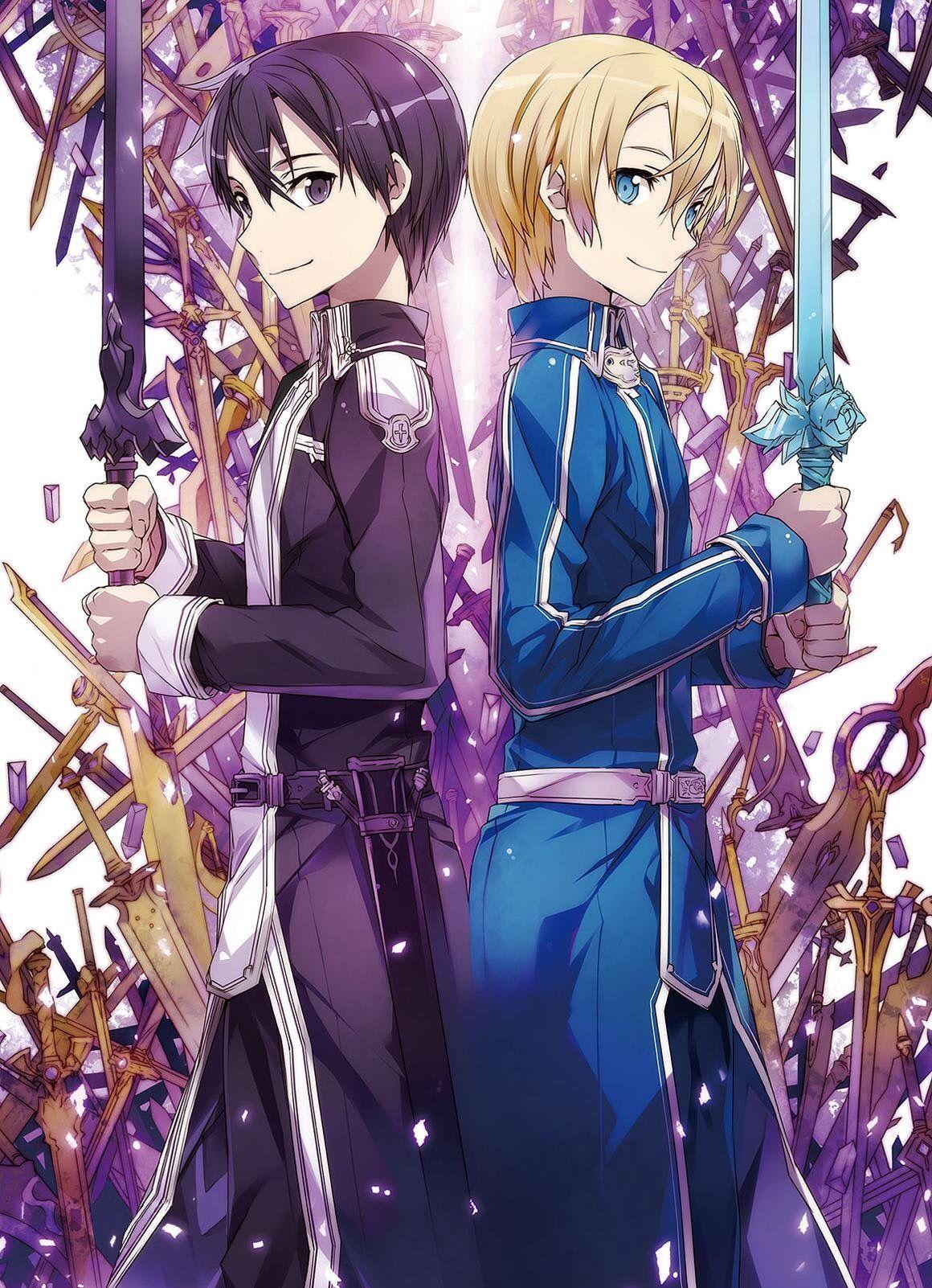 Sao Season 3 Alicization Promotional Poster Sao Swordartonline Alicization Kirito Anime Season3 Art Sword Arte De Espada Producao De Arte Arte Anime