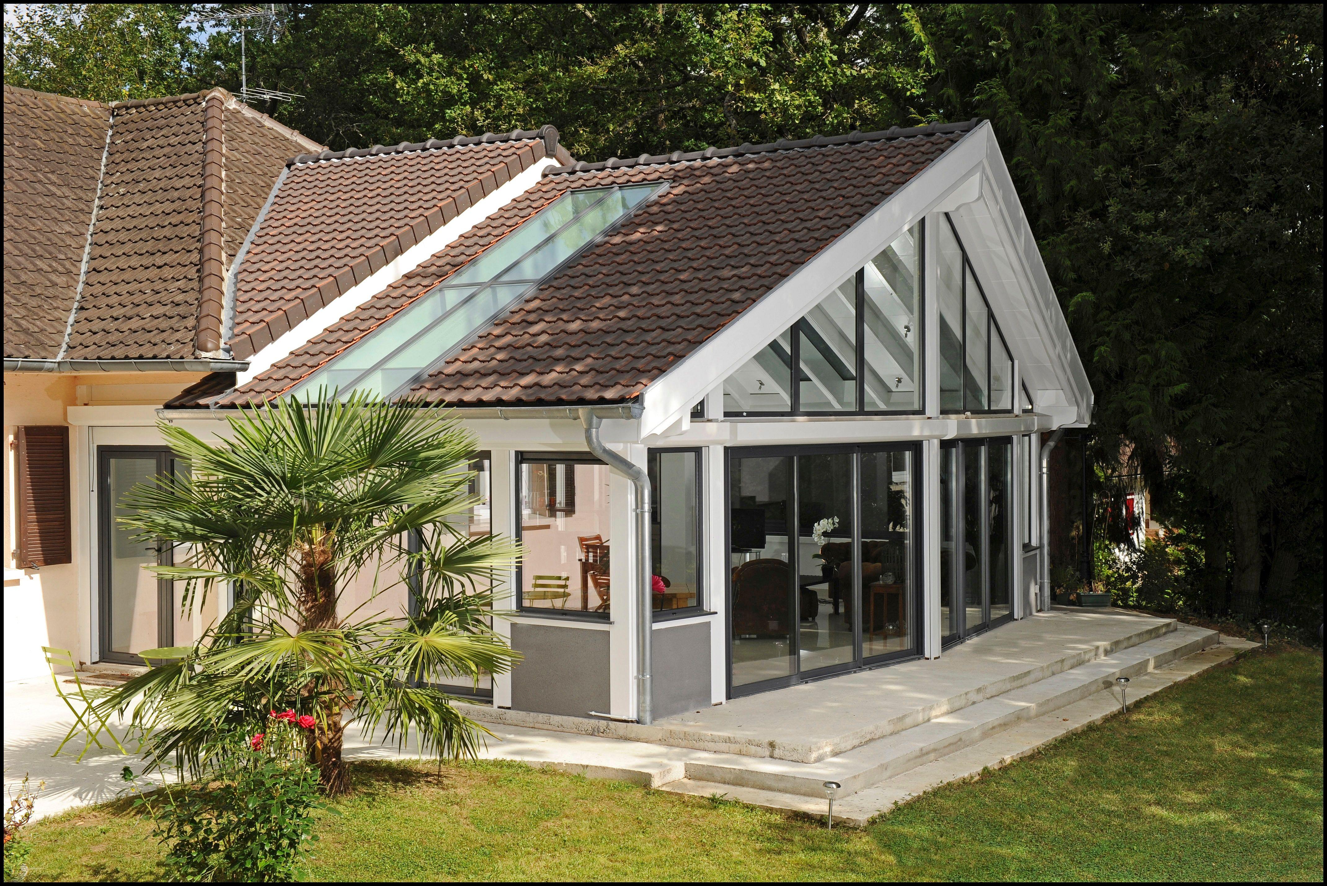 V randa extension int gr e la maison avec une belle toiture 2 pans par vie v randa v randa - Maison avec veranda integree ...