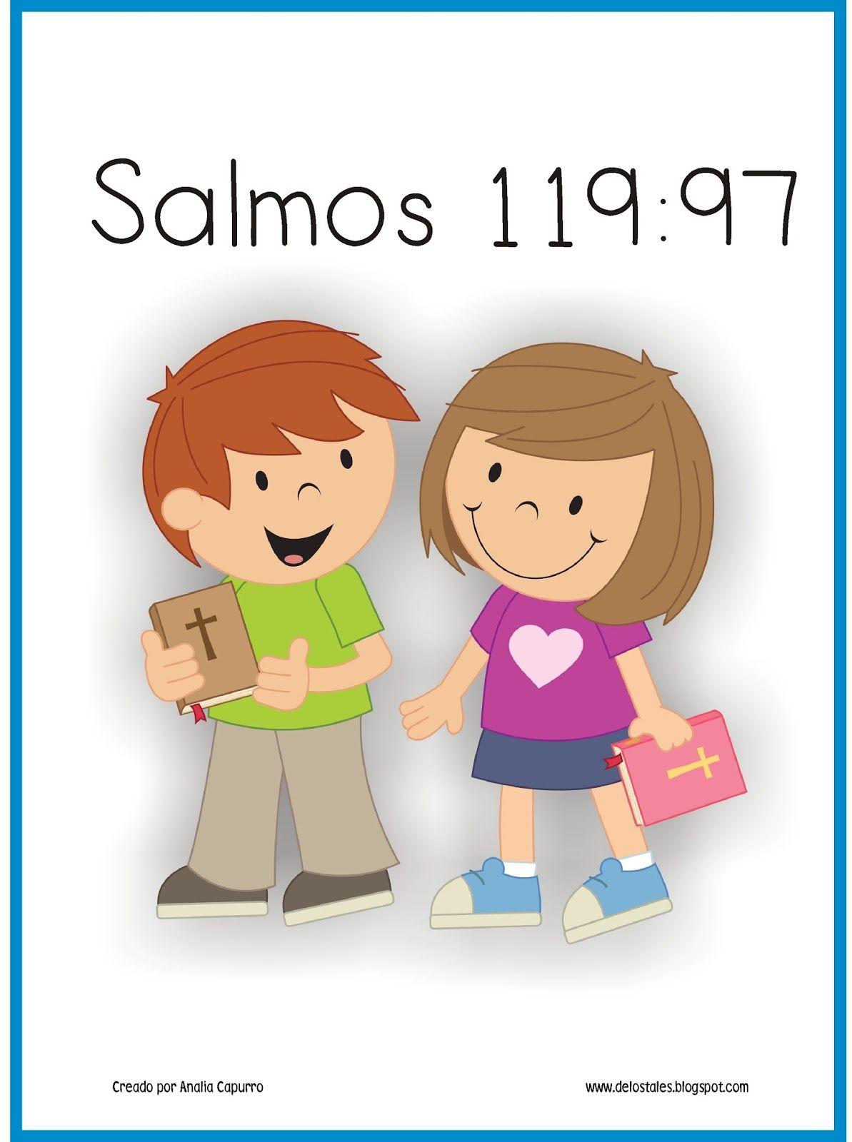 Salmos 119 97 Salmos Para Ninos Biblia Para Ninos Ninos En La
