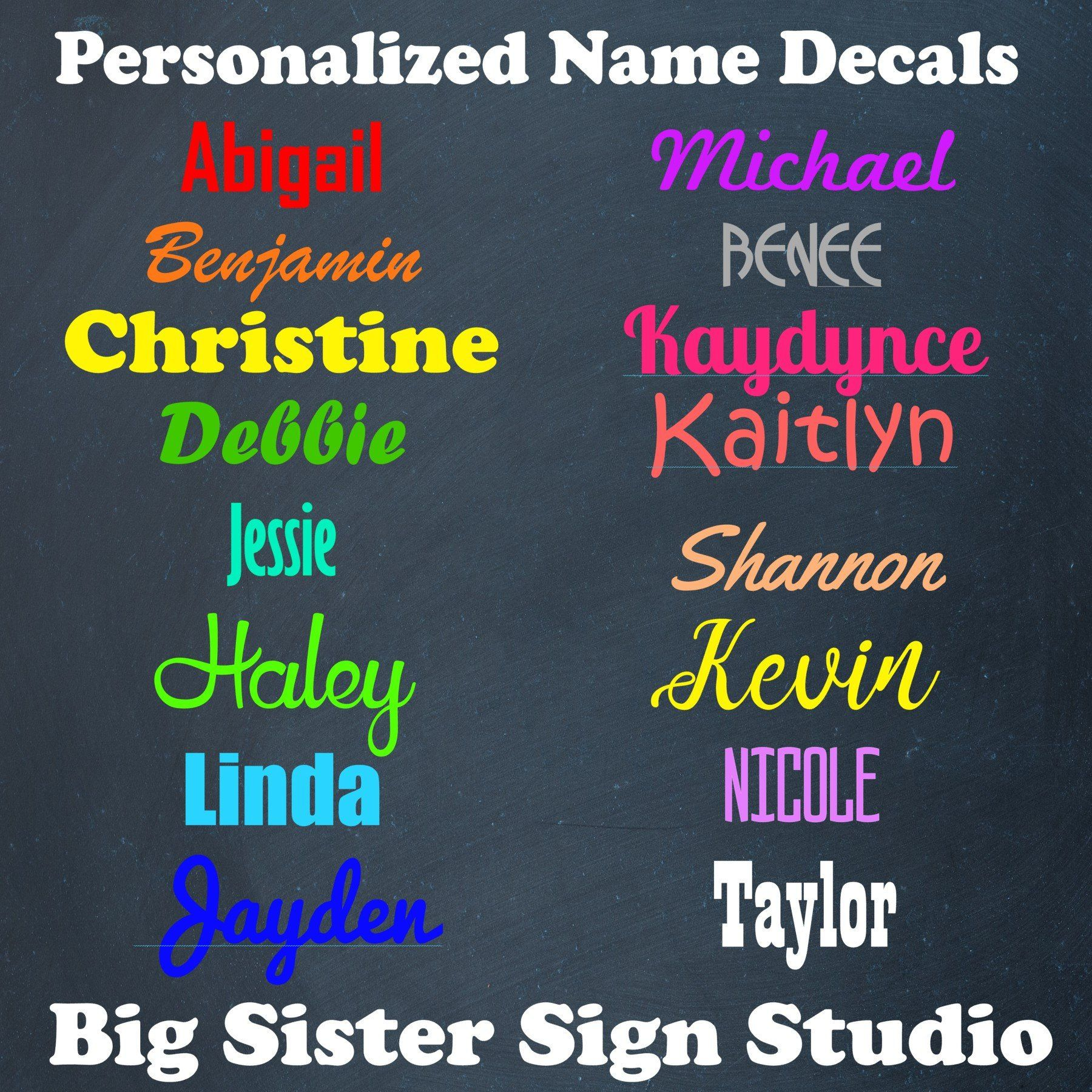 Custom Name Decal For Cars Cups Yetis And Laptops Name Etsy Personalized Vinyl Decal Custom Vinyl Decal Custom Cups