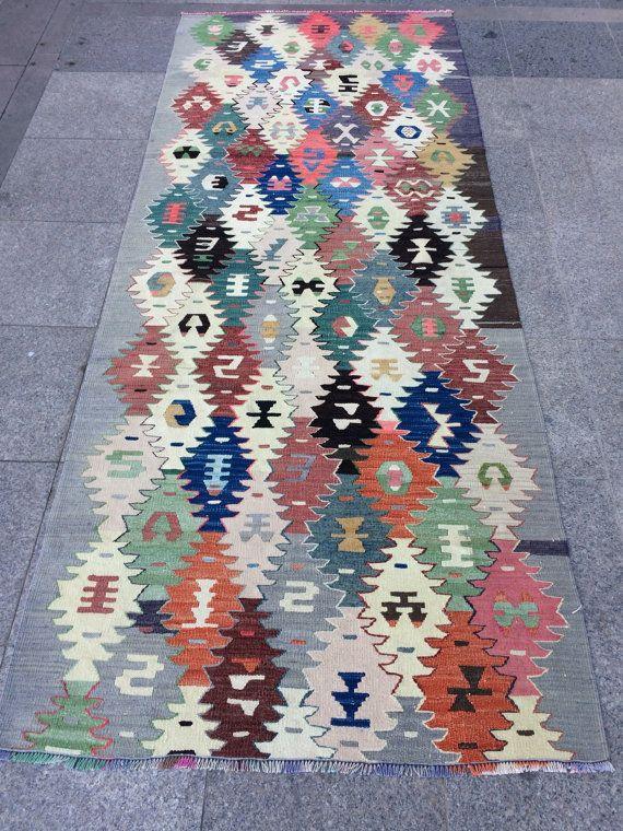 Dekorative türkischer Kelim Teppich böhmische von KilimartStore