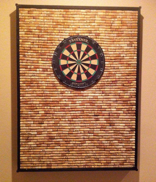 Diy wine cork dart board made by my friends the padgett for Wine cork diy ideas