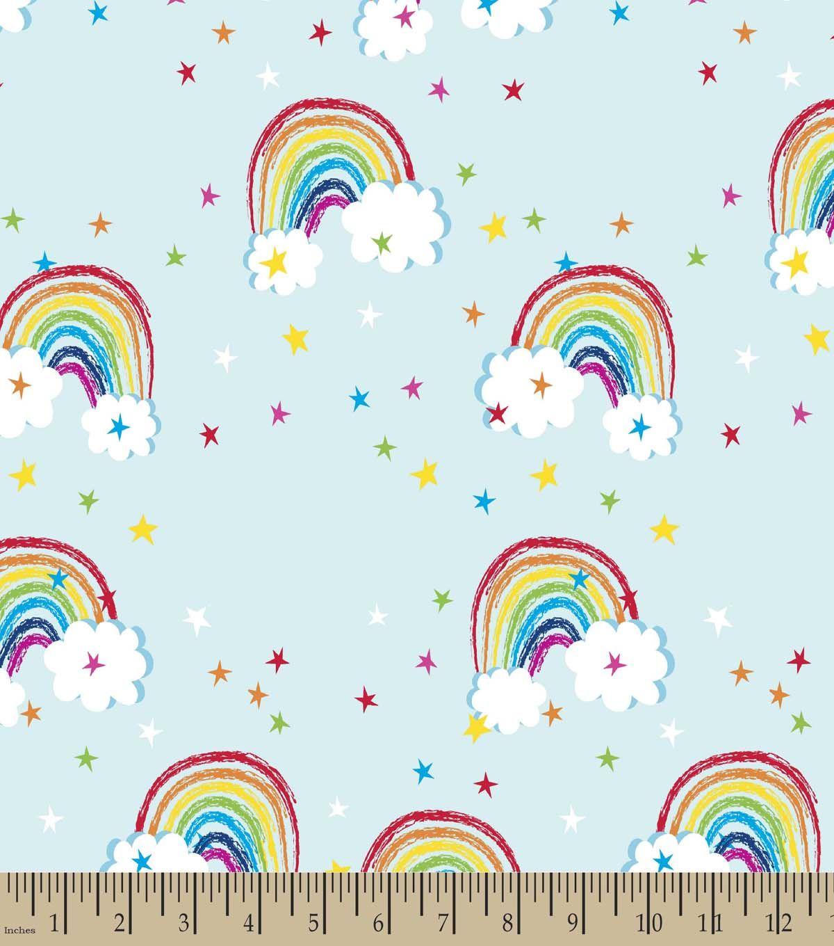 rainbow print fabric eco canvas fabric finds with joann