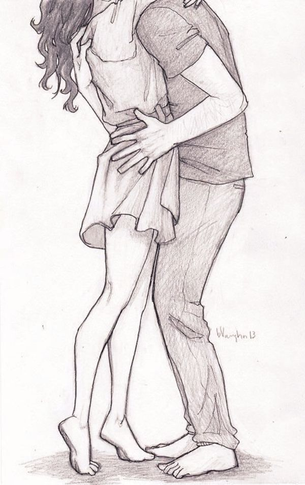 Pencil Sketches For Couple