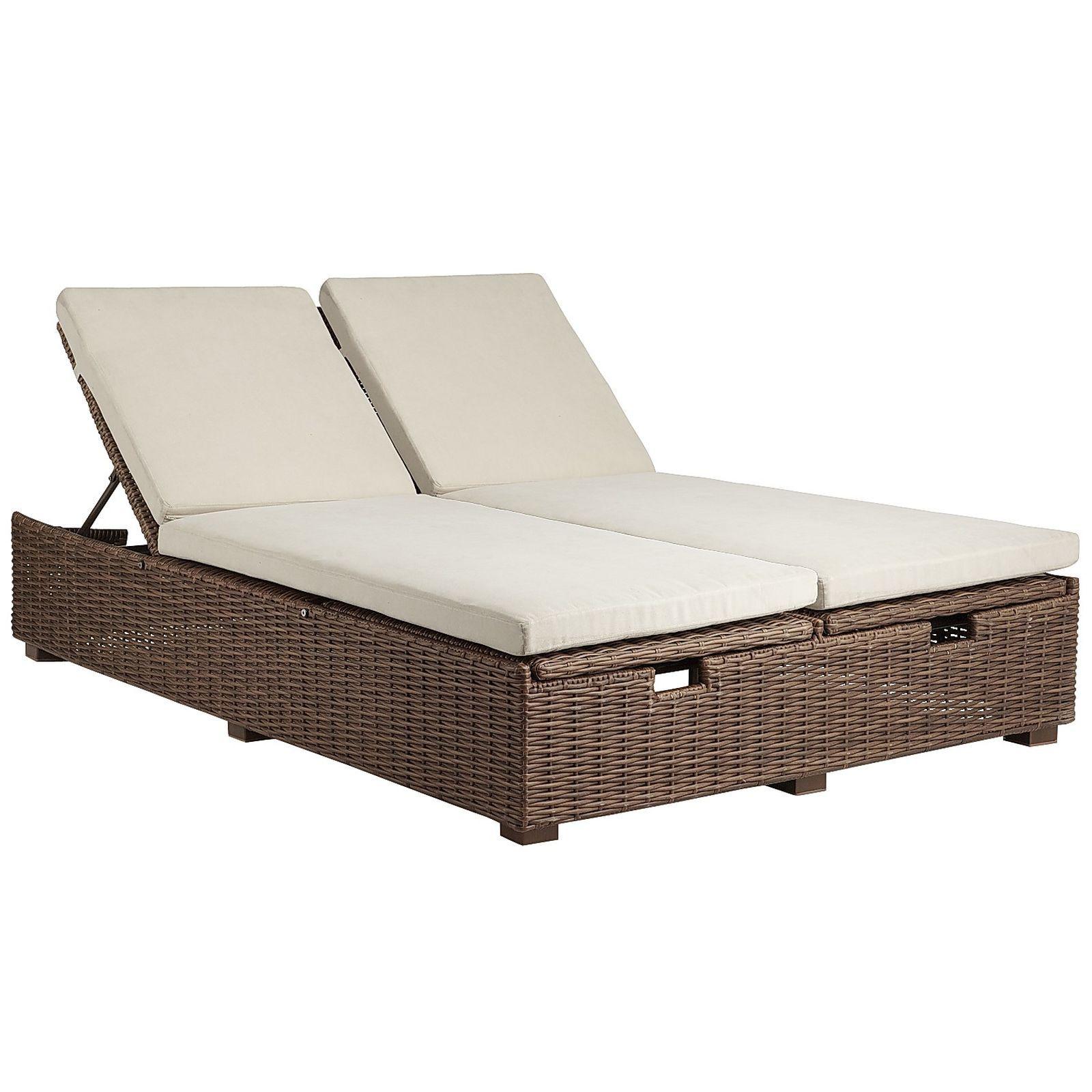 Echo Beach Double Chaise Lounge Latte Double Chaise Lounge Outdoor Double Chaise Lounge Outdoor Chaise Lounge