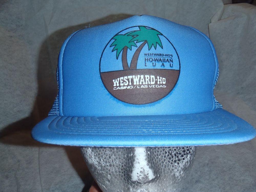 VTG Westward Ho Las Vegas Casino Hawaiian Luau Mesh Snapback Trucker Hat Cap   TruckerHat 59853adca43c