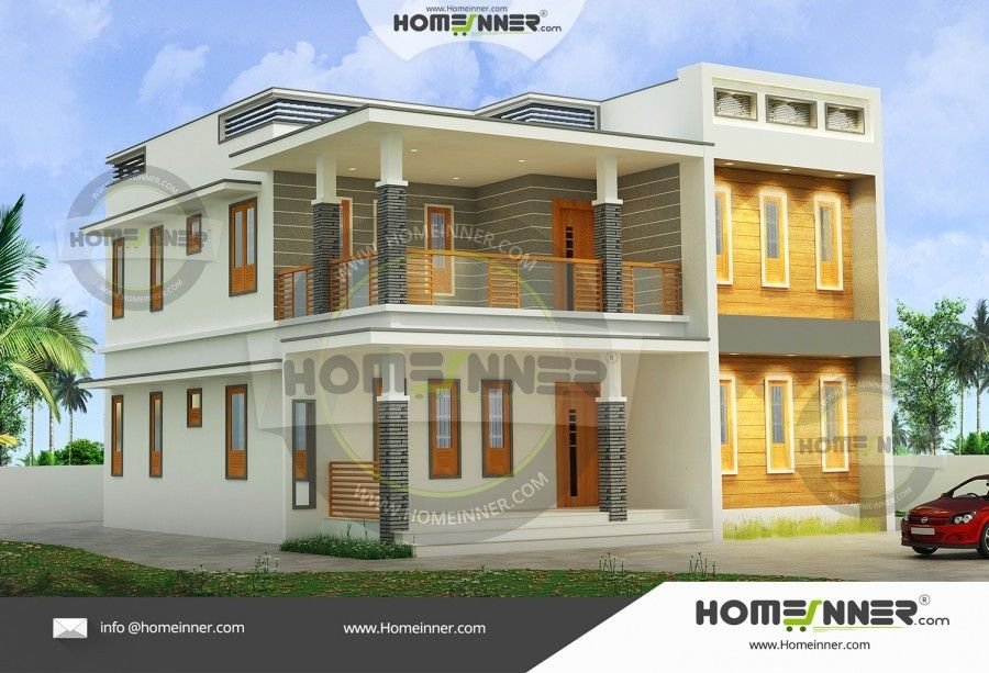 2140 Sq Ft 3 Bedroom Flat Roof Design Architectural House Plans Modern House Plans Flat Roof Design