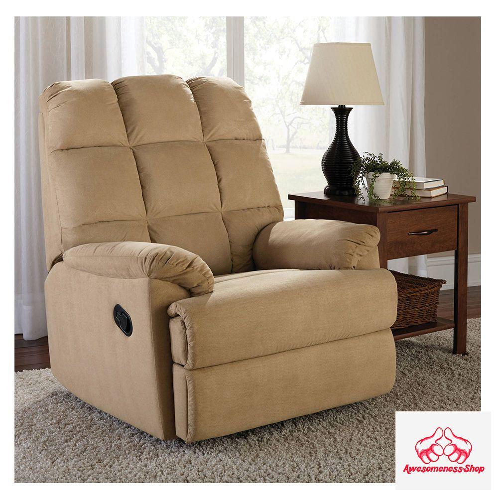 Slim Reclining Chair Lounger Lounge Recliner Lazy Den Nursery Rv Small Area New Dorel Living Living Room Chairs Swivel Recliner Chairs