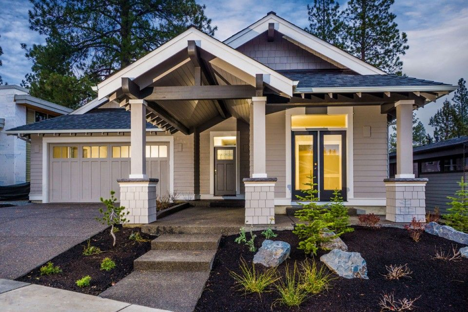 craftsman style house plan bend oregon with images