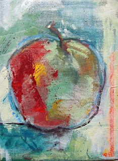 Little Fruit Paintings, Apple by Donna Horn