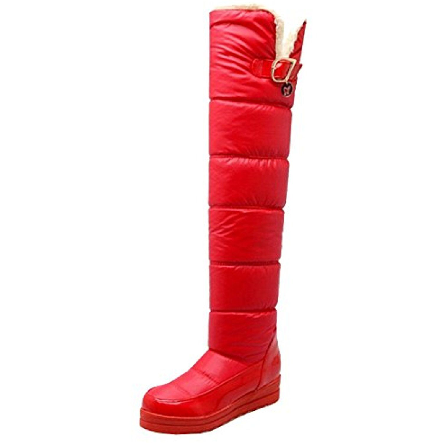 6a1b1c06245c ... Shoes Female In Tube Long Boots Tenis … Women Winter Long Snow Boots  Flat Warm Over Knee Boots     Learn more by