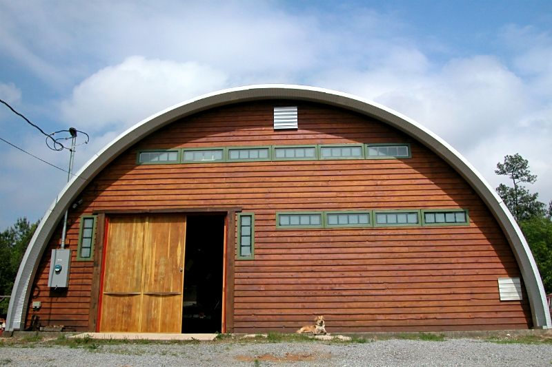 Quonset Huts Easy to Construct Round Metal Quonset Steel