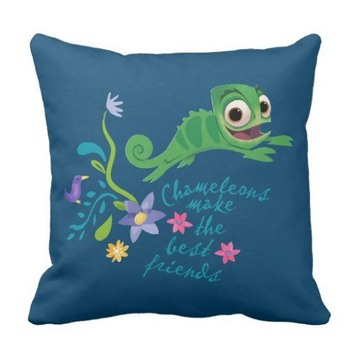 Tangled | Pascal - Chameleons Make the Greatest Good friend Throw Pillow. >> Take a look at even more by checking out the photo link