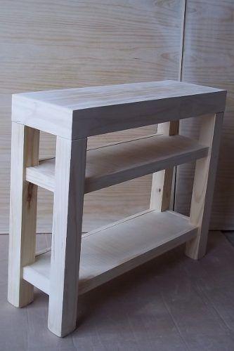 Mesa de arrime recibidor madera pino mesitas mesas de - Mesa de recibidor ...