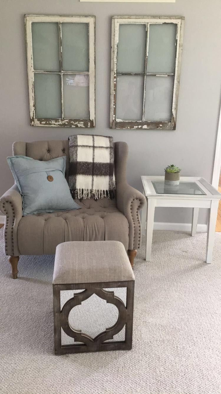 Best Corner Accent Chair Neutral Living Room White Grey 400 x 300