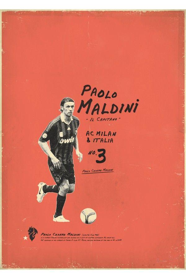 Maldini Football Poster Design