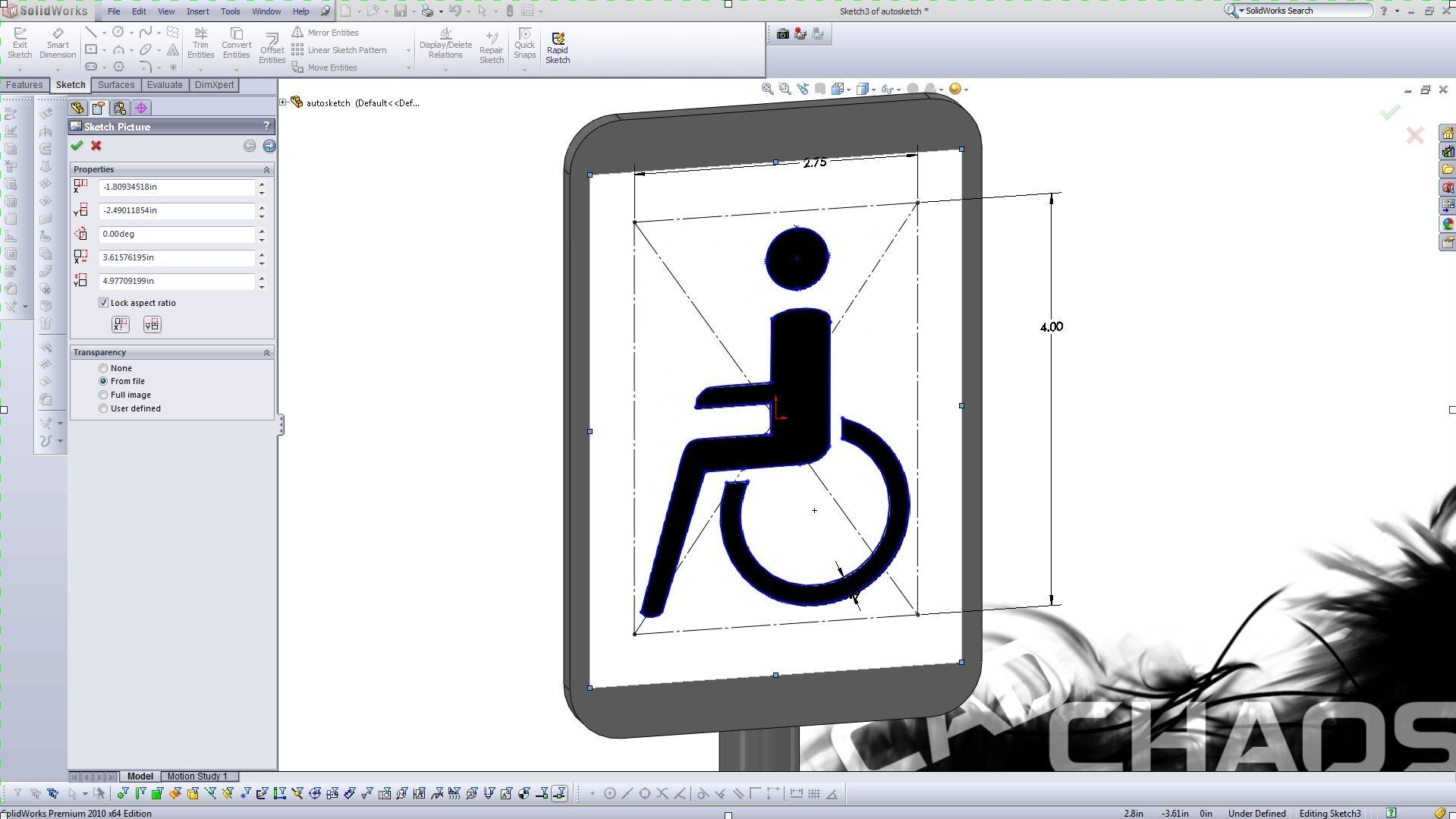 Solidworks How To Auto Trace an Imported Image   Solidworks