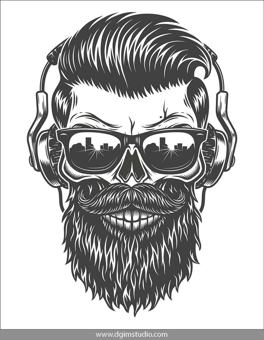 This Is My Beard It/'s Awesome Stylish Bearded Skull Mens T-Shirt