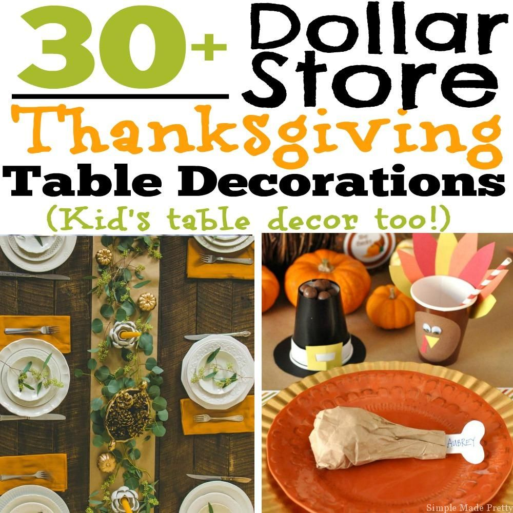 dollar table decor store decorations thanksgiving kid too diy pin s