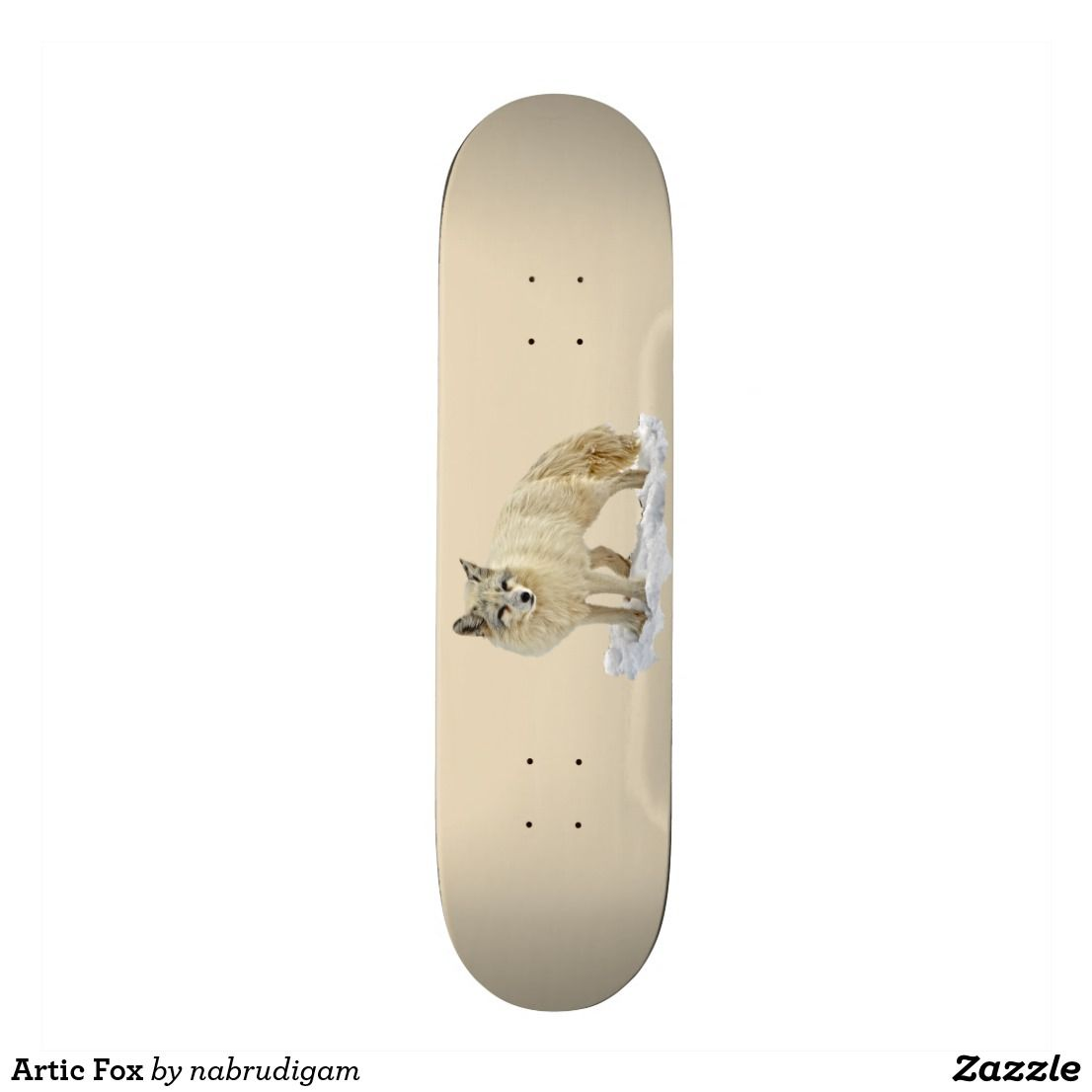 Artic Fox Skateboard Zazzle Com Skateboard Cool Skateboards Hard Rock