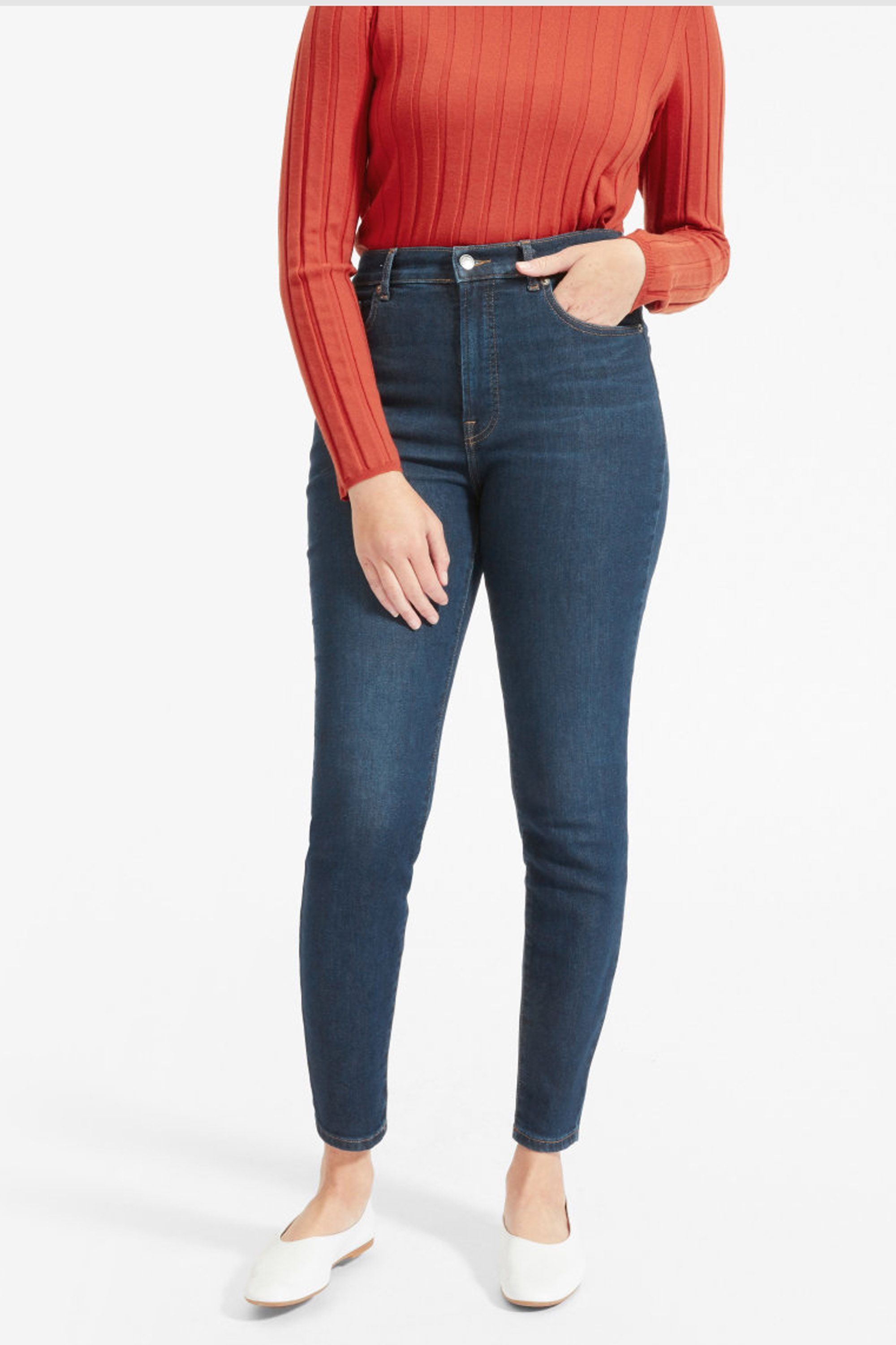f679f806e2 Authentic Stretch High-Rise Skinny | COSMO Style | High waist jeans ...