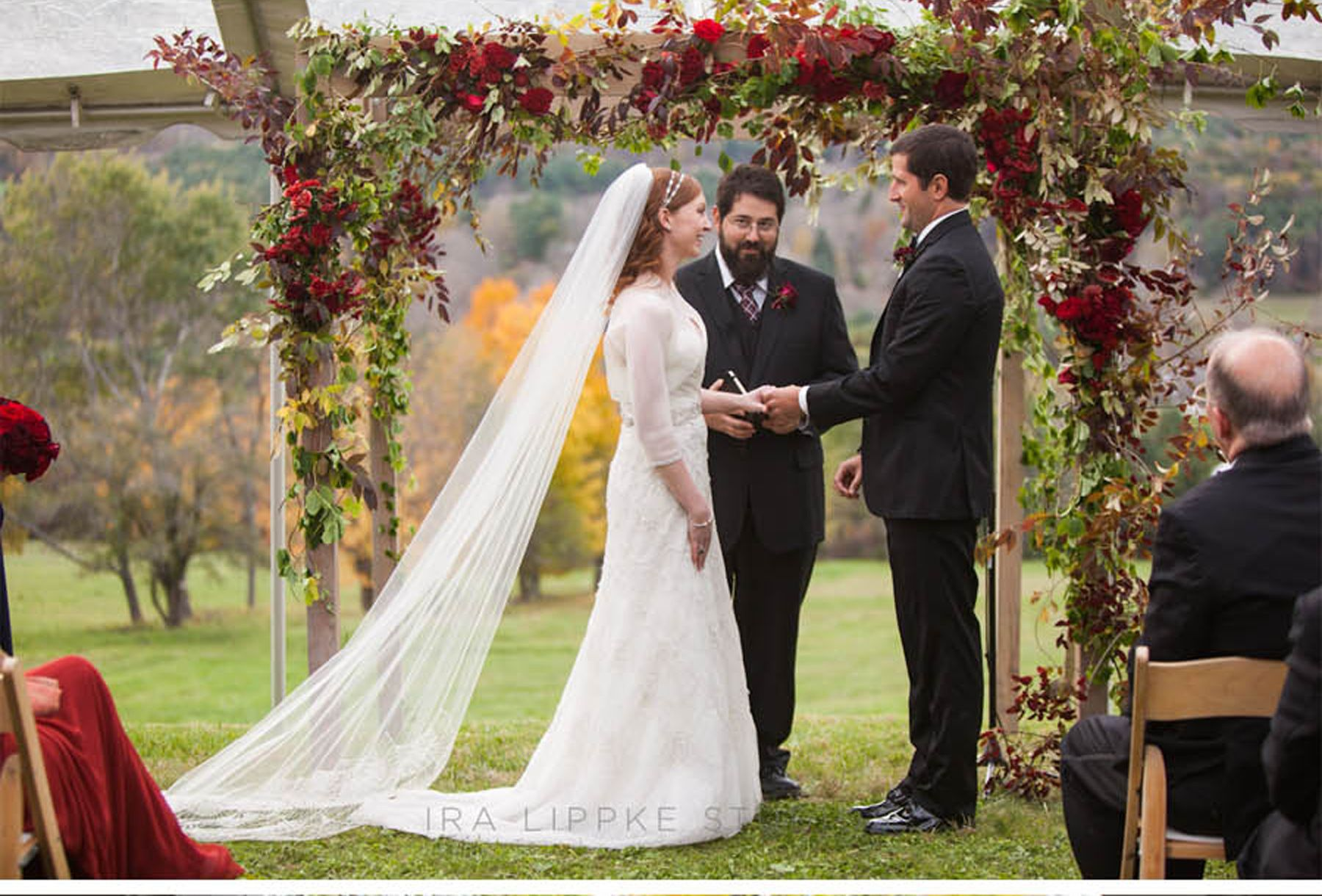 Inspiration Outoor Ceremonies: Gorgeous Autumn Floral Inspiration From Outdoor Ceremony