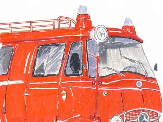 Alte Feuerwehr mercedes