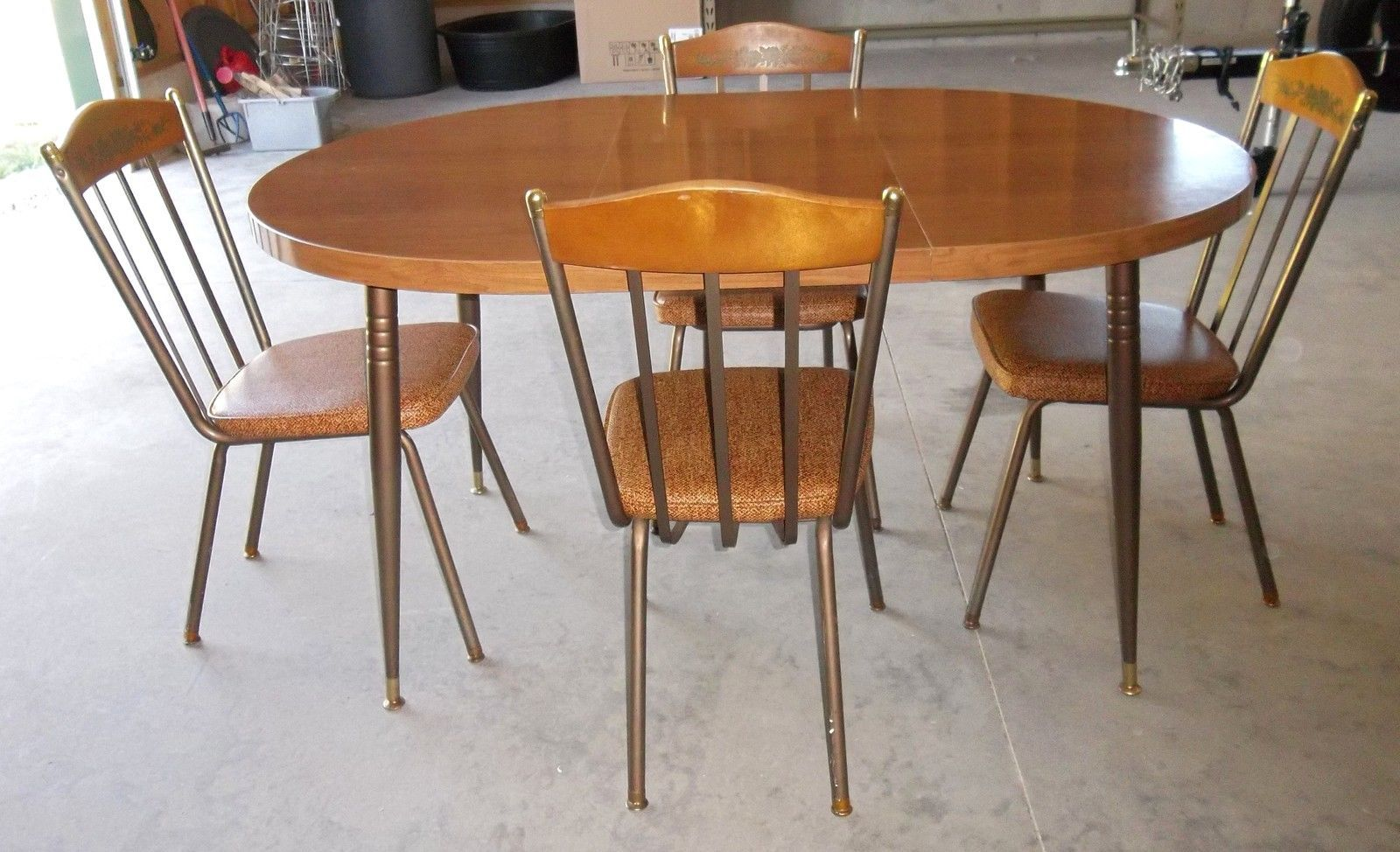 vintage lloyd mfg of heywood wakefield retro chrome dinette set table 4 chairs ebay kitchen. Black Bedroom Furniture Sets. Home Design Ideas