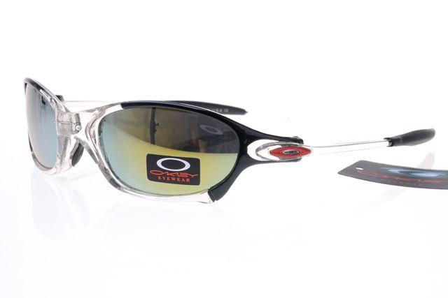 Oakley Gascan Sunglasses Black White Frame Colorful Lens 0497