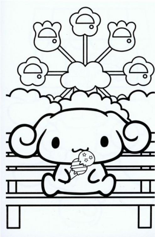 Printable Kawaii little dog coloring picture free - Letscolorit.com ...