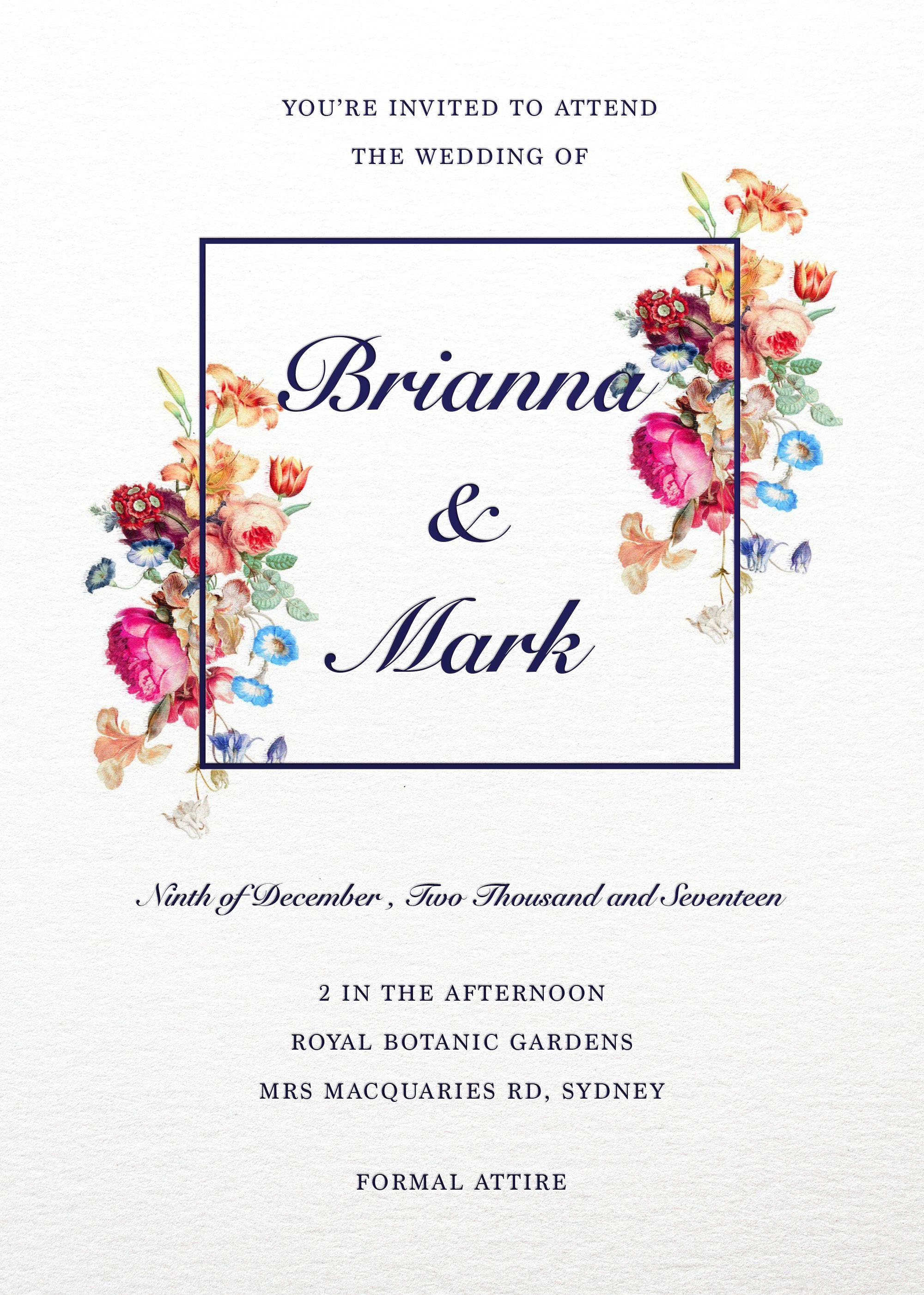 Vintage Floral - Wedding Invitations | Invitations | Pinterest ...