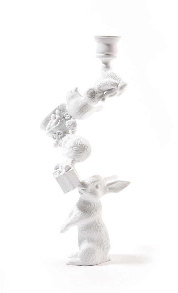 Wonderland Rabbit Candleholder - White - Artecnica - $90.00-Home ...