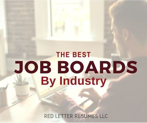 Start Your Job Search Here The Best Job Boards By Industry Board - resume zapper