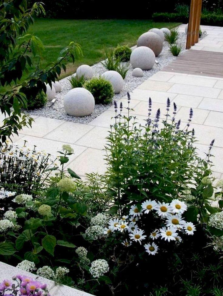 50 Awesome Modern Front Yard Design und Landschaftsgestaltung Ideen #modernfrontyard