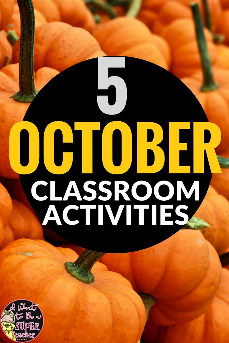 October Ideas & Activities for the Elementary Classroom