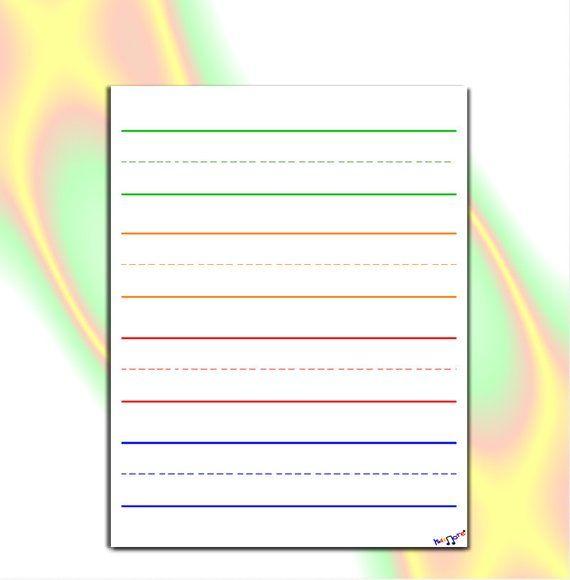 Preschool Writing Paper, Lined Paper for Kindergarten, Elementary