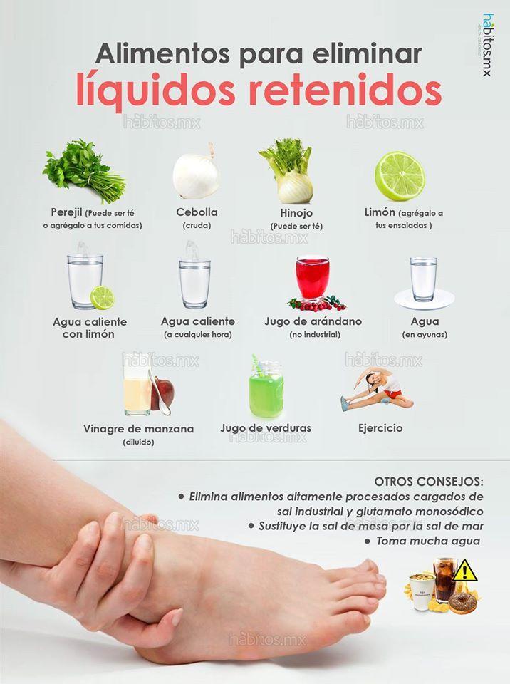 alimentos para perder liquidos retenidos