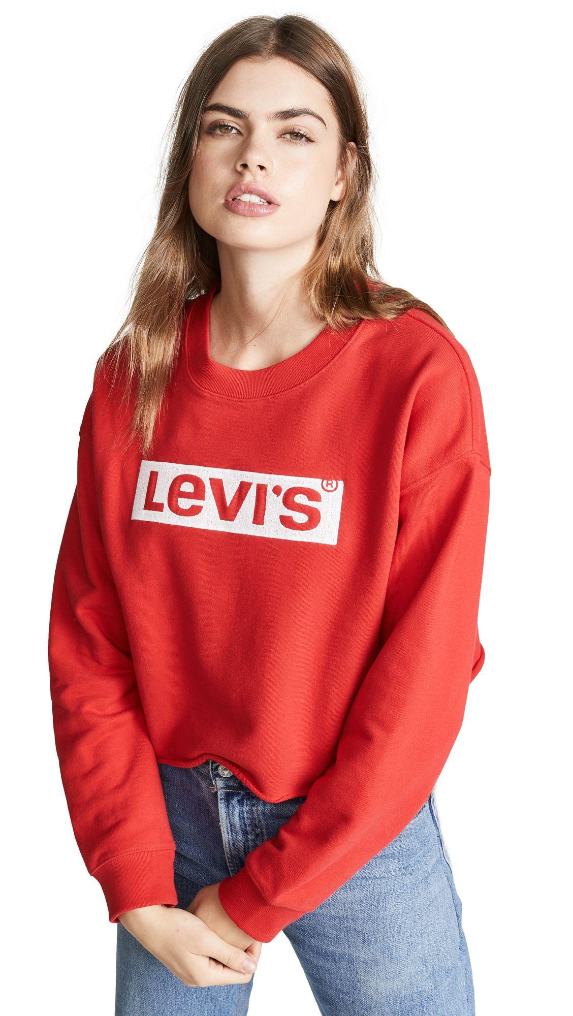 bd3563e6 LEVI'S GRAPHIC RAW CUT CREW NECK SWEATSHIRT. #levis #cloth   Levi'S ...