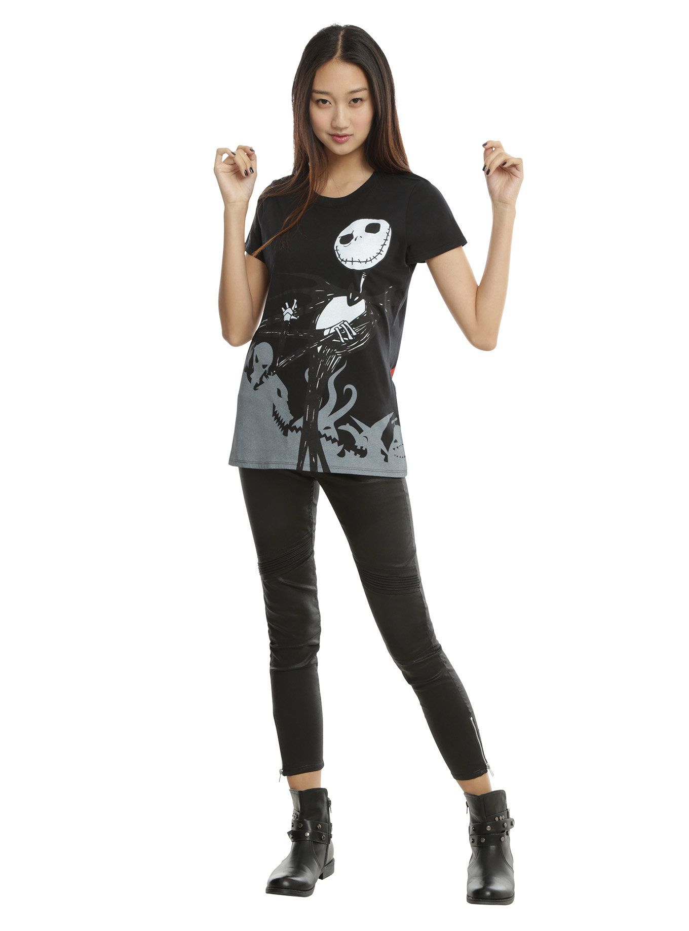 The Nightmare Before Christmas Jack & Sally Ghouls Girls T-Shirt ...
