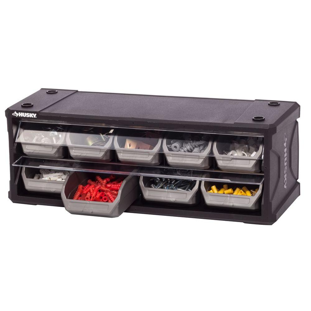 Husky 9 Drawer Small Parts Organizer 222170 The Home Depot