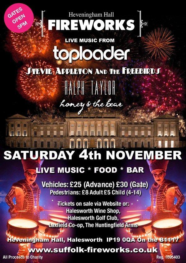 Heveningham Hall Fireworks 4th November 2017 iceni Post