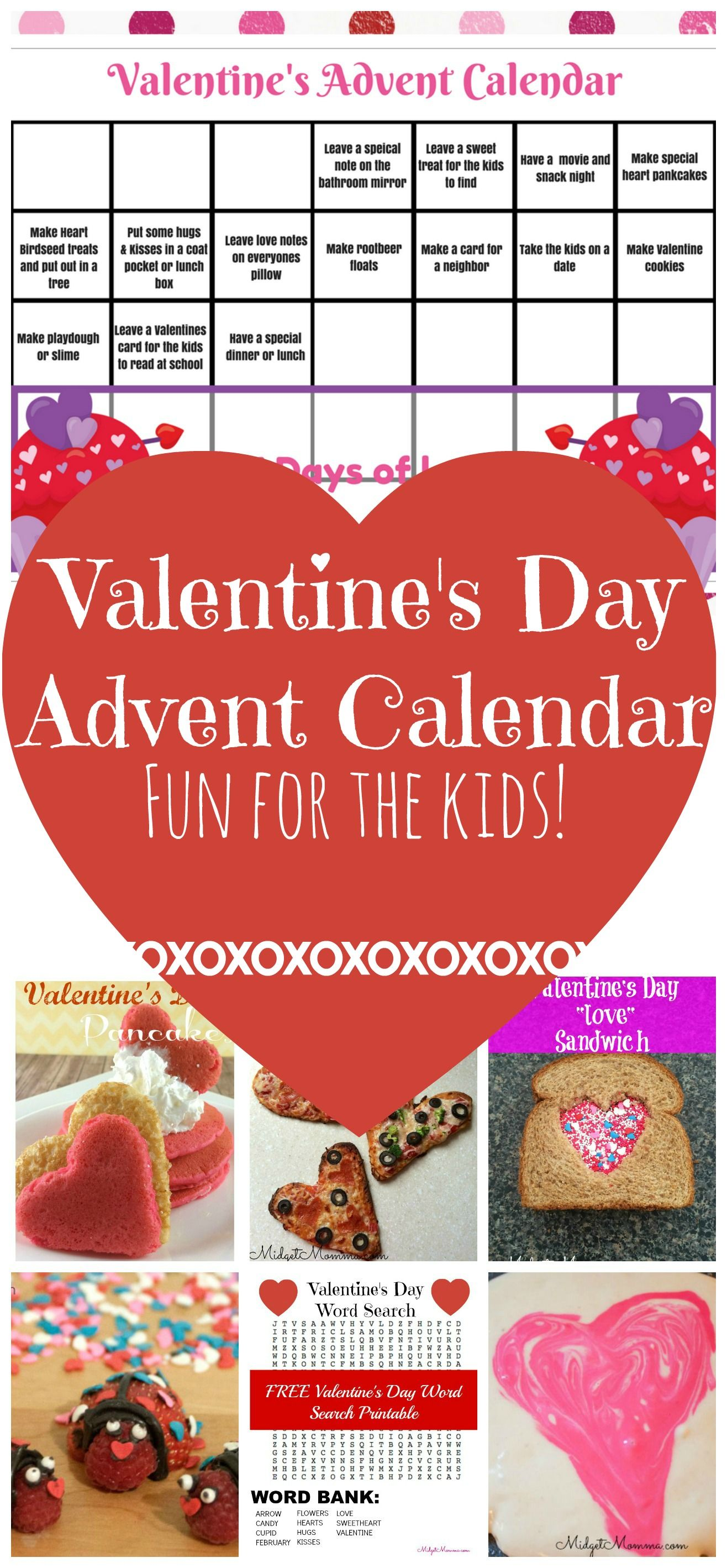 Valentine S Day Advent Calendar Print This Printable And Have Fun Counting Down To With The Kids