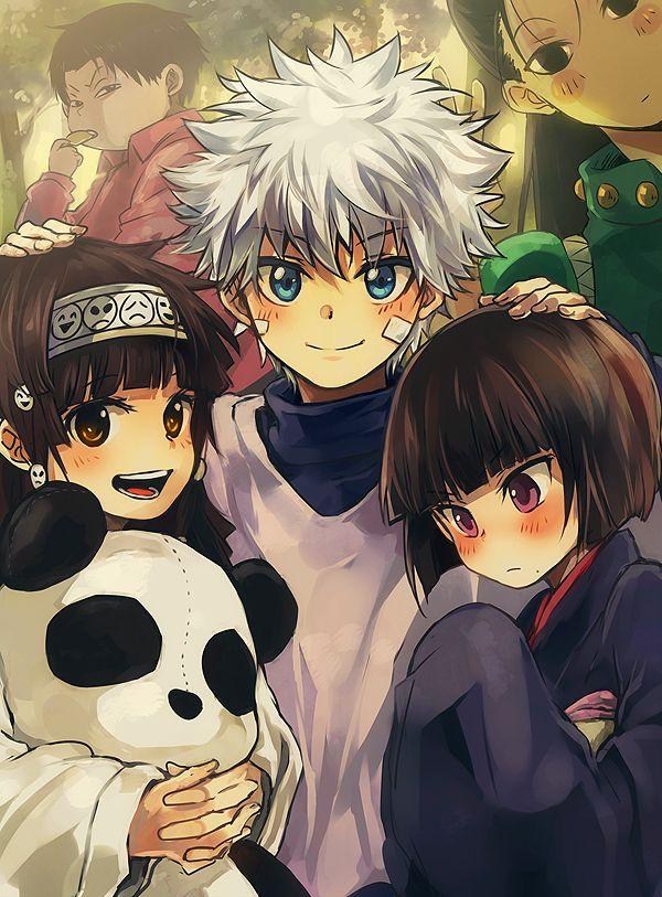 Este es el arte de mi personaje favorito Killua y sus hermanos. Son de mi anime favorito Hunter x Hunter.