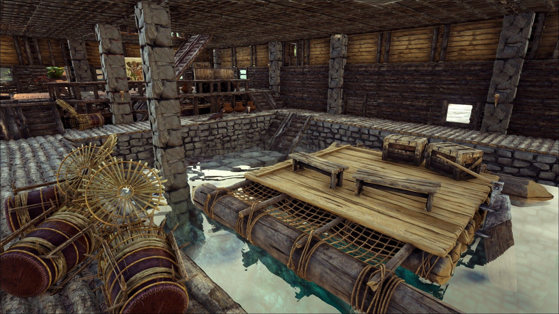 Ark How To Build A Boathouse Base No Mods Base Design Ark Survival Evolved Ark Survival Evolved Bases Game Ark Survival Evolved